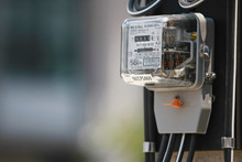 Electricity Meter On The Elect...