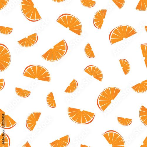Photo Sweet orange seamless pattern