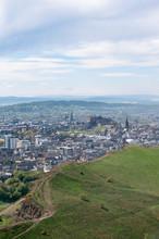 Edinburgh From Holyrood Park And Arthur's Seat