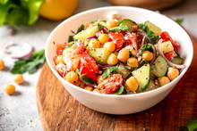 Chickpea Salad With Tomatoes, ...