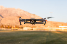 Small Unmanned Drone Hovering
