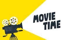 Movie Time Flat Concept Backgr...