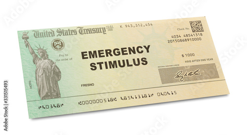 Emergency Stimulus Check Canvas Print