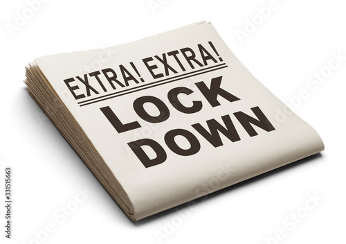 Fototapeta Lock Down News Paper obraz
