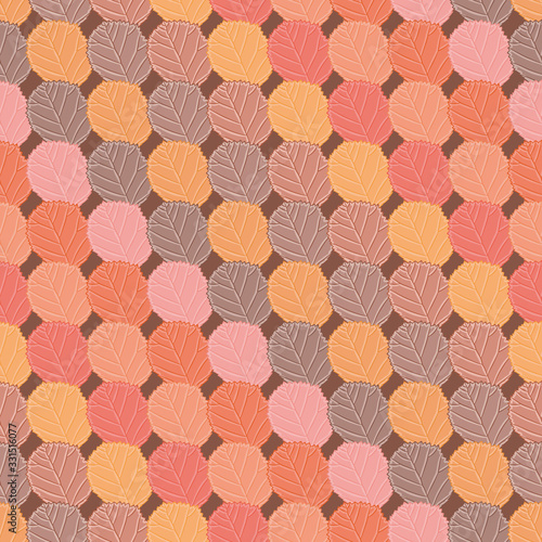 Fotografie, Obraz Autumn foliage vector repeat pattern