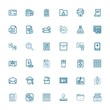 Editable 36 document icons for web and mobile