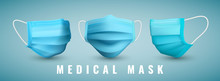 Realistic Medical Face Mask. Details 3d Medical Mask. Vector Illustration