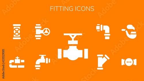 Leinwand Poster fitting icon set