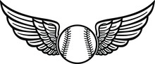 Baseball With Wings Eps File /...
