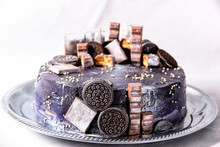 Chocolate Cake Decorated With ...