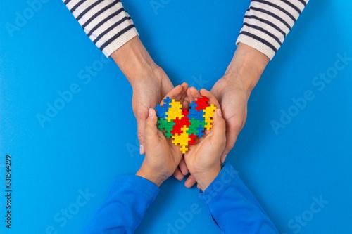 Vászonkép World autism awareness day concept