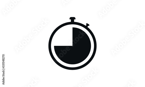 Photo Stopwatch o measure the amount of time icon vector