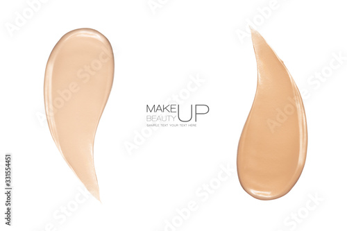 Liquid foundation color swatches with copy space Fototapet