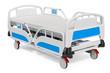 Modern adjustable hospital bed, 3D rendering