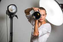 Pretty, Female Photographer Wi...