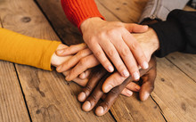 Diverse Hands Are Join Togethe...