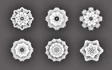 3d Snowflake Symbols