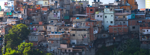 Fototapeta Favelas in the city of Rio de Janeiro. A place where poor people live. obraz