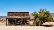 Old Wild West Cowboy  Building Near Joshua Tree In Southern California
