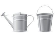 Metal Watering Can And Bucket ...