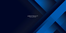 Dark Blue Background With Abst...