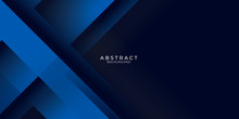 Dark Blue Background With Abst...
