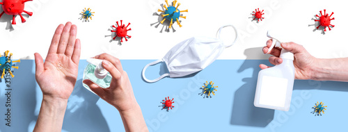 Prevent virus and germs - healthcare and hygiene concept Canvas Print