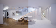 Render Seamless Panorama Of Staircase Hall