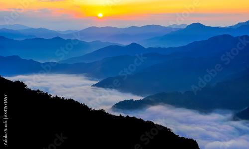 Obraz 高原からの眺望 - fototapety do salonu