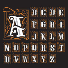 A To Z Art Noveau Typologo 4000px
