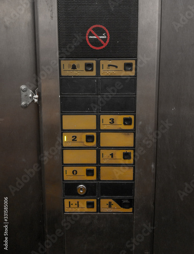 Buttons of a old elevator - 331585006