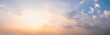 Leinwandbild Motiv Panorama sunset sky for background or sunrise sky and cloud at morning.