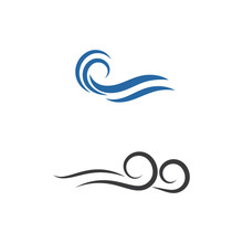 Wind Logo Template Vector Symbol
