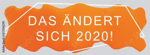 Das ändert sich 2020! web Sticker Button