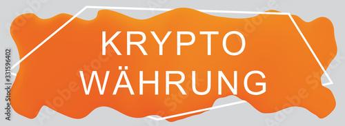 Kryptowährung web Sticker Button