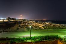Caesarea National Park At Night