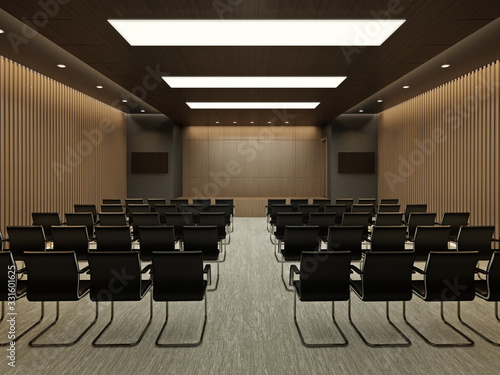 Photo Conference hall interior #1 3D render