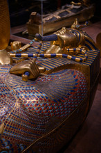 Exhibition In Madrid (Spain), With Replicas Of Original Egyptian Pieces, Dedicated To Tutankhamun