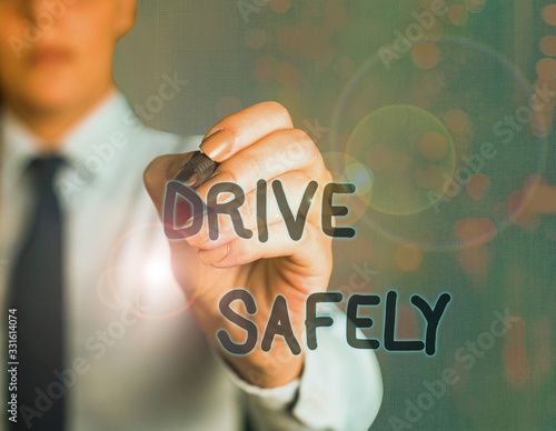 Word writing text Drive Safely Canvas Print