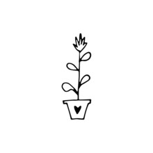 Hand Drawn Home Plants Collect...
