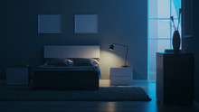 Modern Interior Of A Bedroom W...