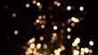 Defocused fireworks bokeh effect on black background