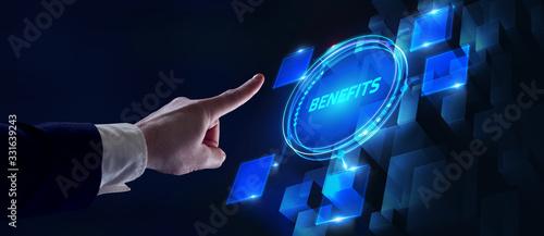 Fototapeta Employee benefits help to get the best human resources. Business concept. obraz
