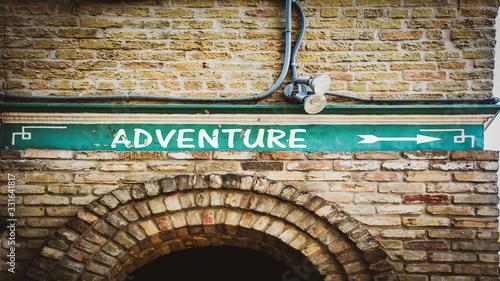 Photo Street Sign to Adventure