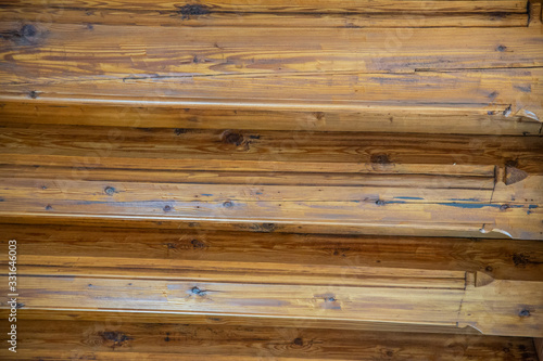 Photo Architectonic detail, wooden log ceiling, decor motif