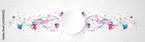 Photo Trendy fluid cover design with plexus effect.