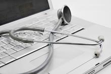 Stethoscope On A Modern Keyboa...