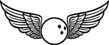Bowling Ball With Wings Eps Fi...