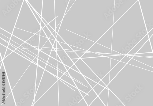 Photo Abstract geometric art with random, chaotic lines