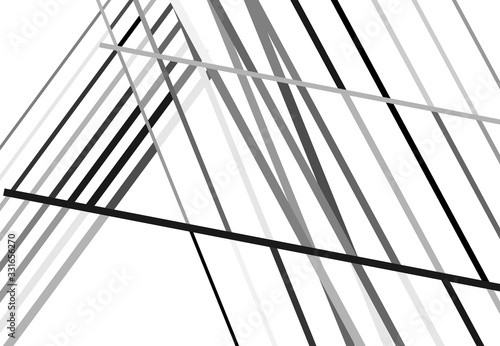 Fototapety, obrazy: Abstract geometric art with random, chaotic lines. Straight crossing, intersecting lines texture, stripes pattern